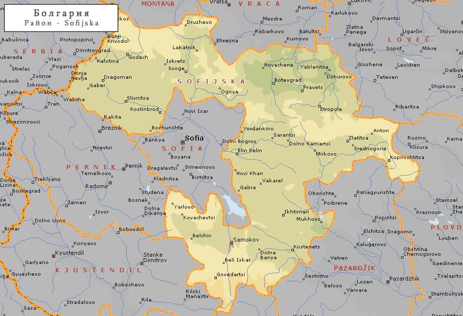 Topograficheskaya Karta Sofijskoj Oblasti 65 Sofijskaya Oblast