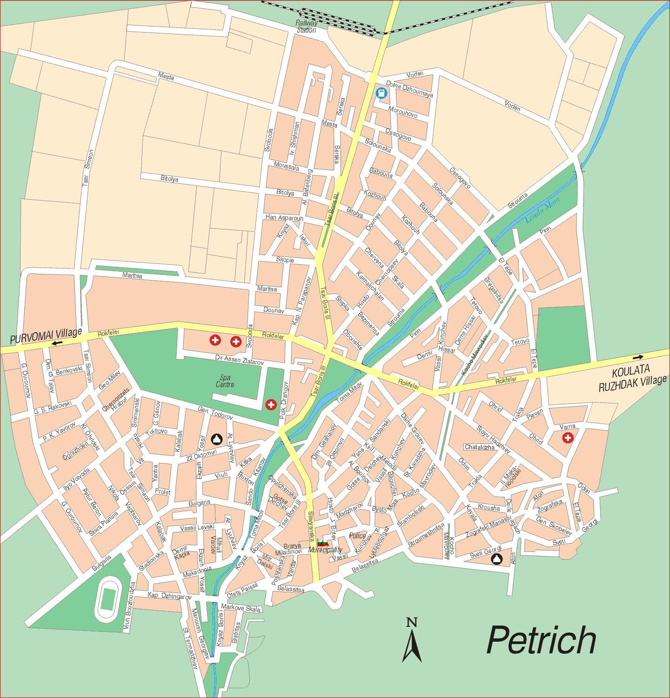 Karta Goroda Petrich 20 Blagoevgradskaya Oblast Besplatno