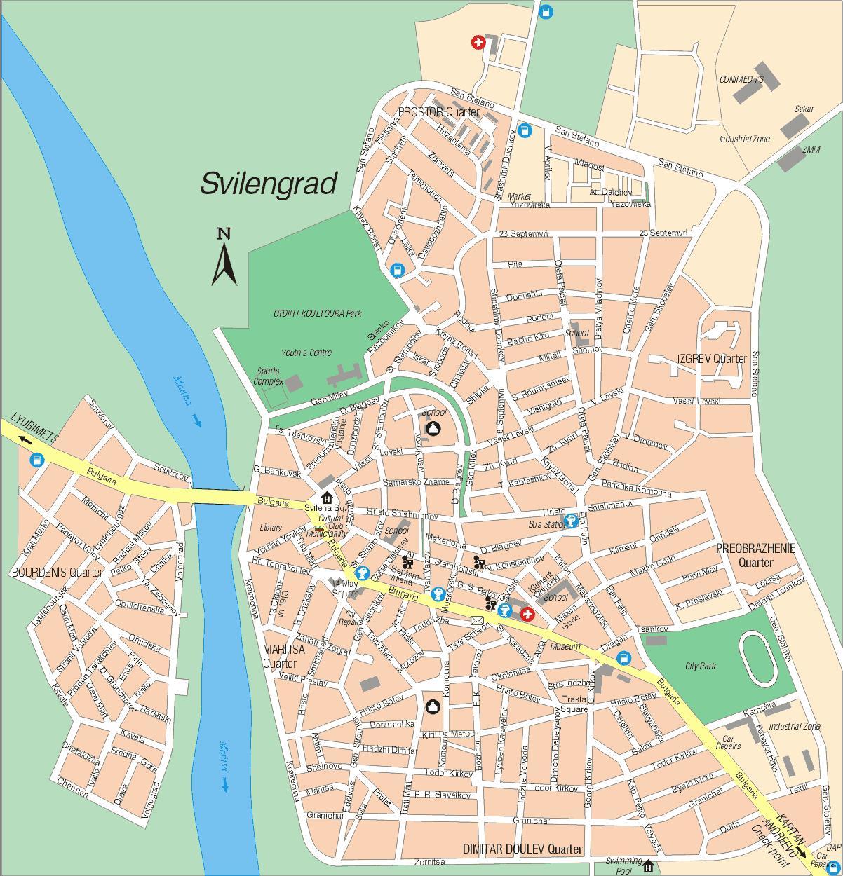 Karta Goroda Svilengrad 80 Haskovskaya Oblast Besplatno