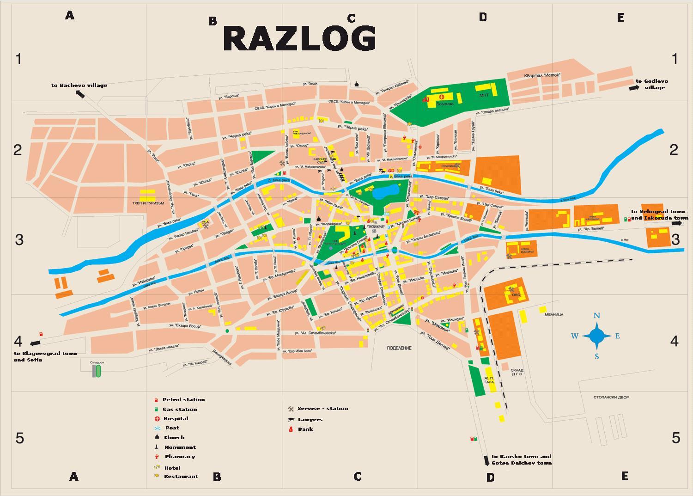 Karta Goroda Razlog 21 Blagoevgradskaya Oblast Besplatno