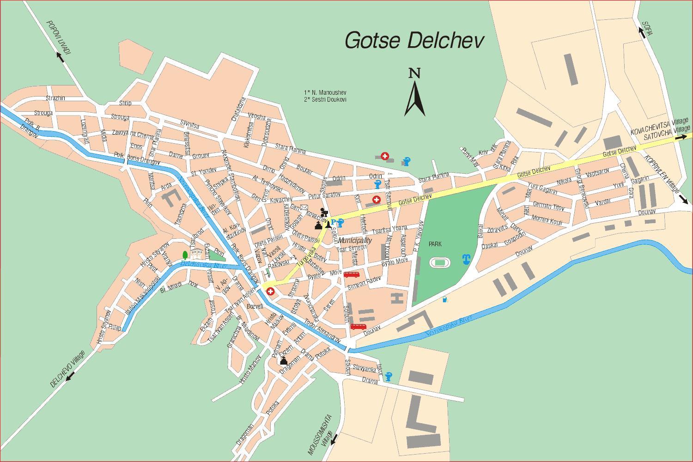Karta Goroda Goce Delchev 18 Blagoevgradskaya Oblast