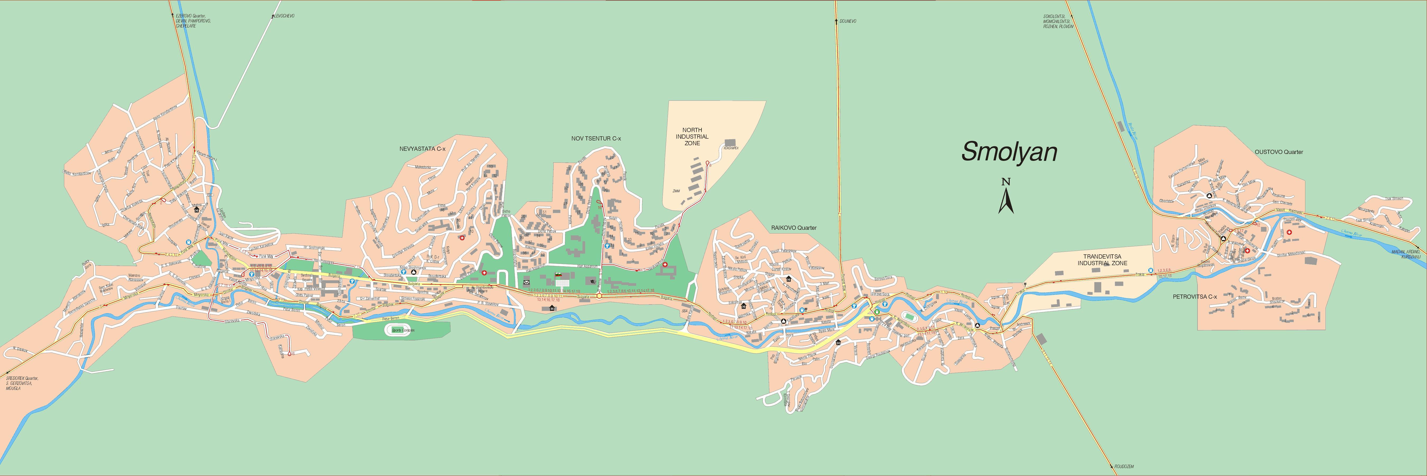 Karta Goroda Smolyan 60 Smolyanskaya Oblast Besplatno Skachat