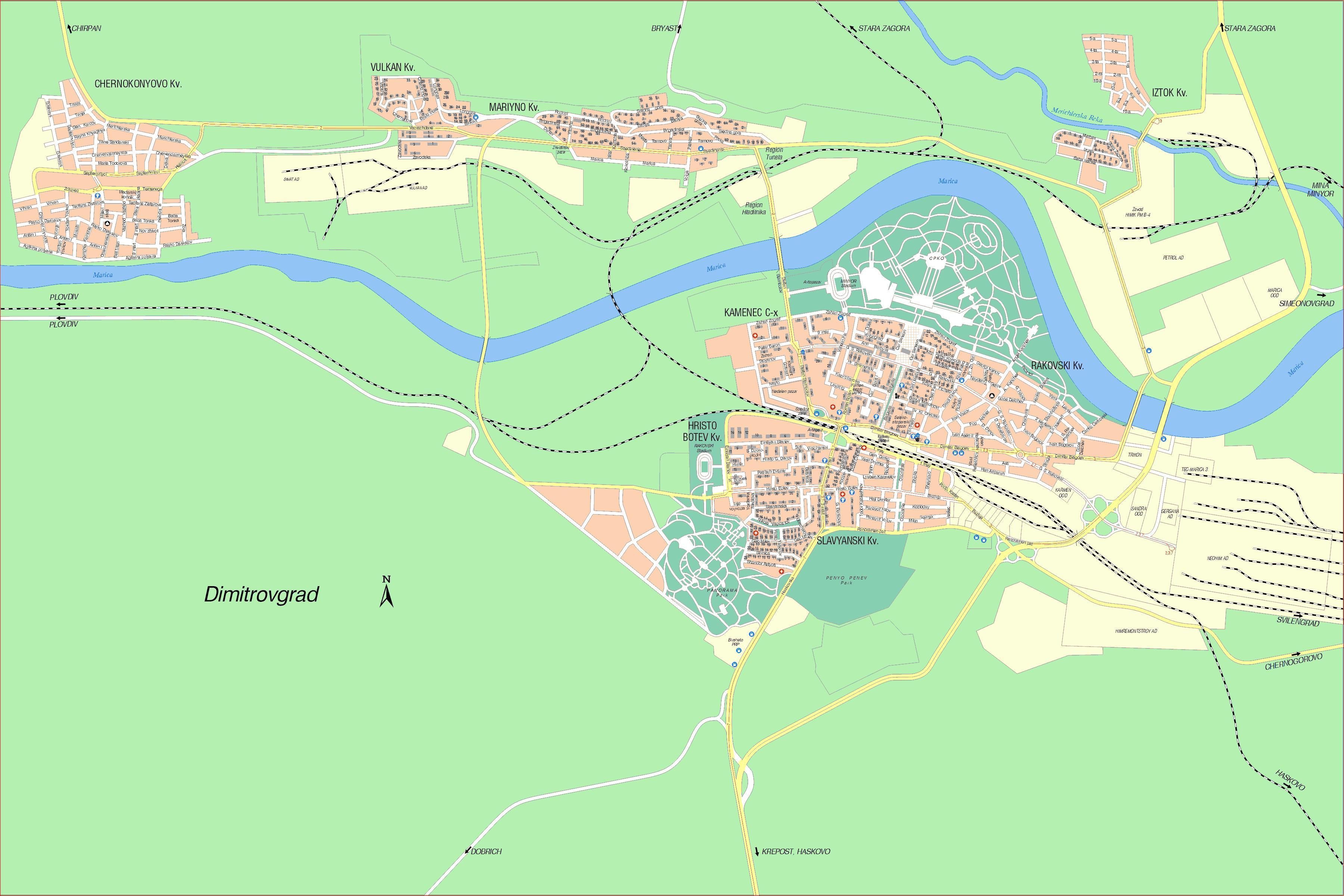 Karta Goroda Dimitrovgrad 79 Haskovskaya Oblast Besplatno
