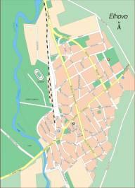 Карта города Елхово