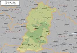 Топографическая карта Шуменской области