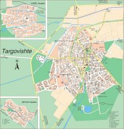 Карта города Тарговище
