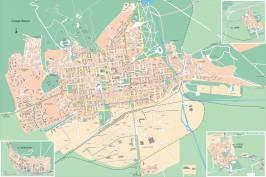 Карта города Стара Загора