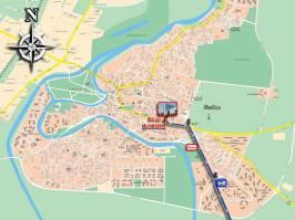 Карта города Ямбол