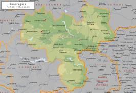 Топографическая карта Хасковской области