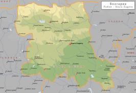 Топографическая карта Старозагорской области