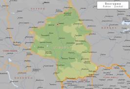 Топографическая карта Ямболской области