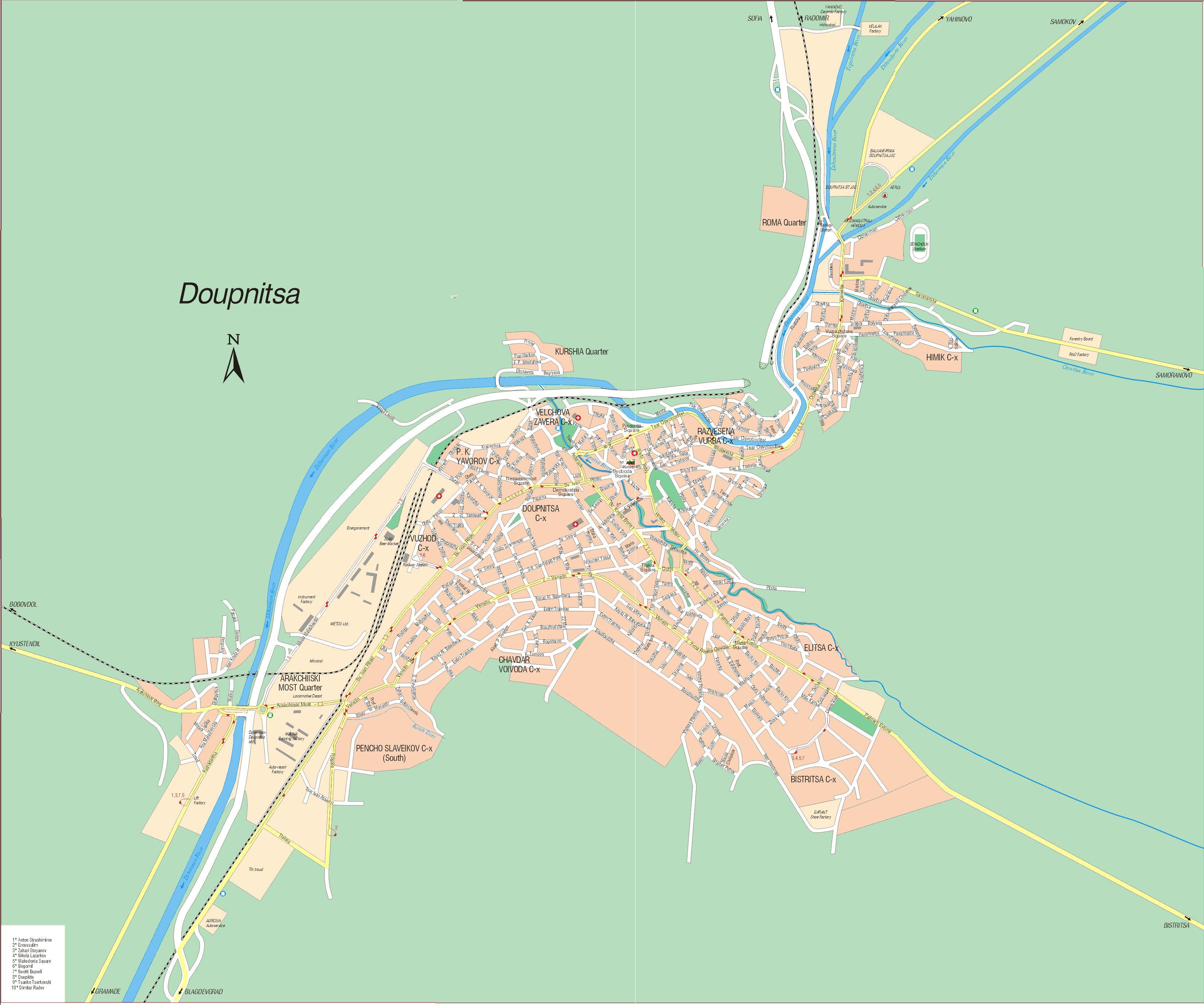 Karta Goroda Dupnica 115 Kyustendilskaya Oblast Besplatno