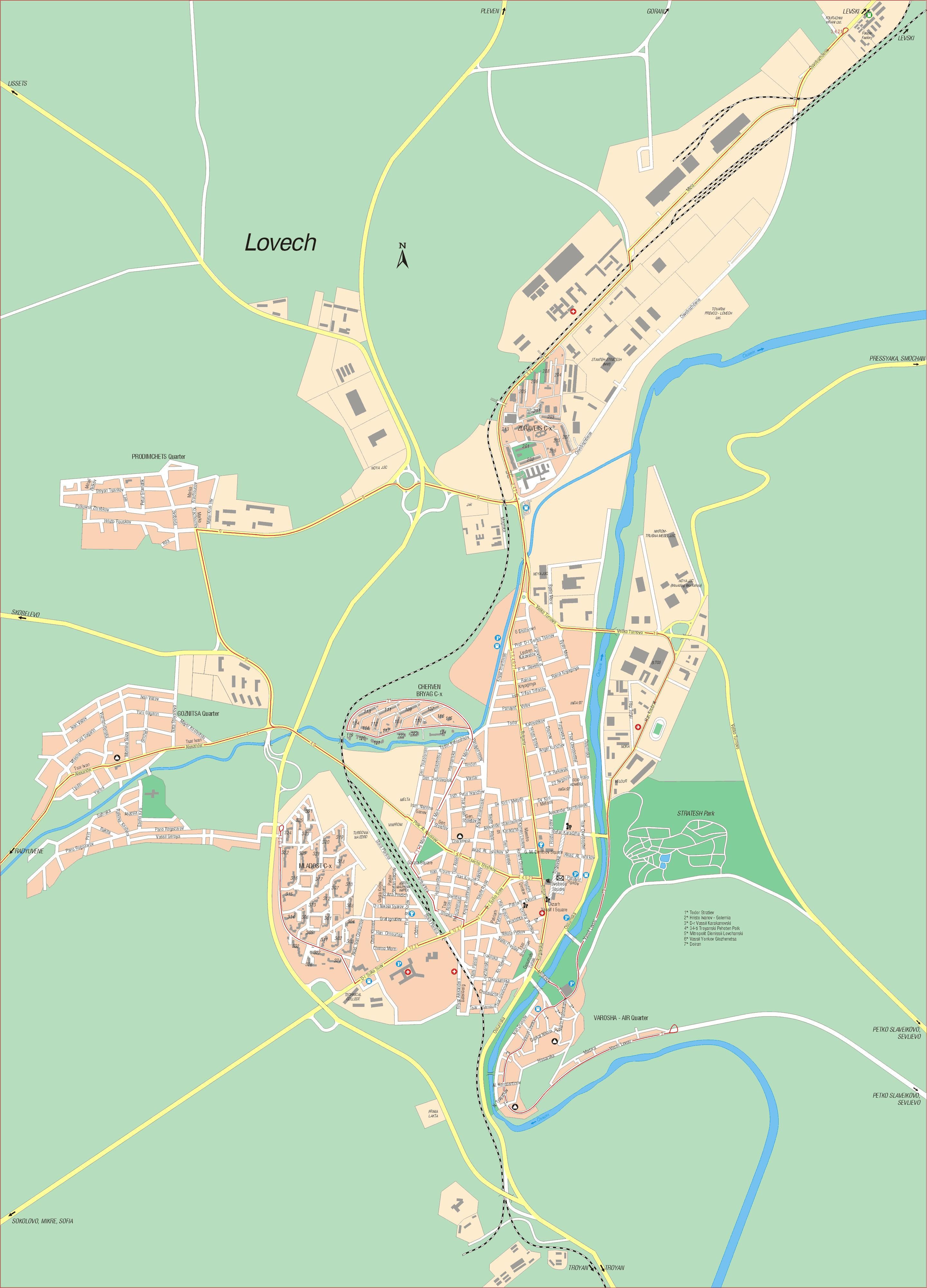Karta Goroda Lovech 117 Lovechskaya Oblast Besplatno Skachat